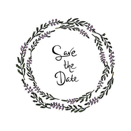 Save the date card Çizim