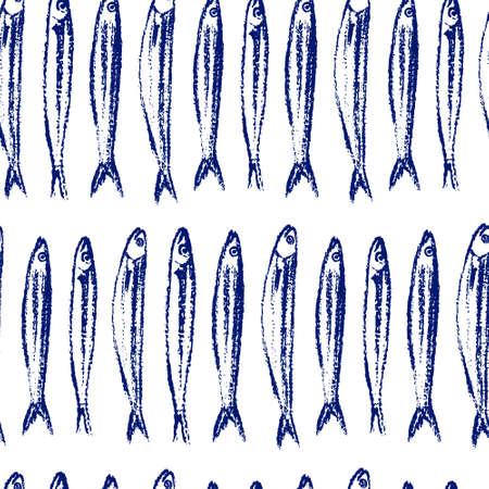 Disegno a mano pesce pattern