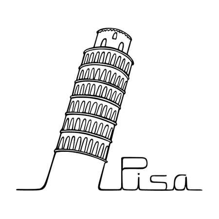 Pisa city poster