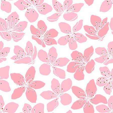 Sakura bloeit patroon Stock Illustratie