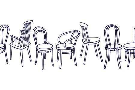 Viennese chairs pattern