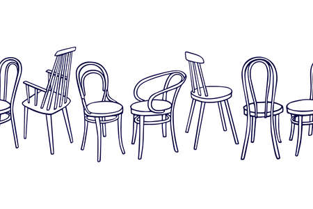 Viennese chairs pattern