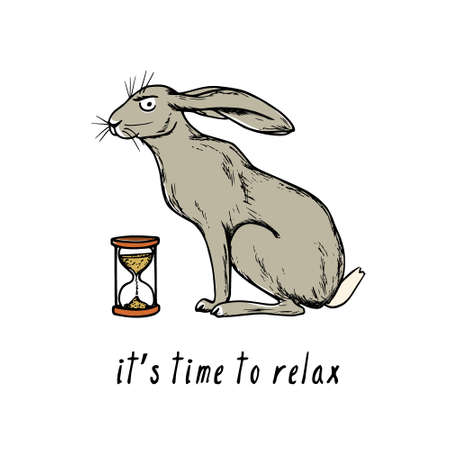 Hand drawn hare