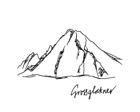 Hand drawn mountain peak 矢量图像