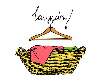 Laundry basket illustration