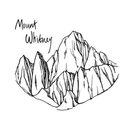 Hand drawn mountain peak Иллюстрация