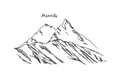 Hand drawn mountain peak