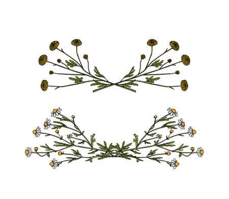 Wildflower laurel set