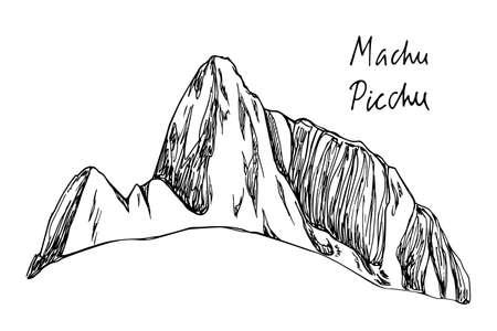 Hand drawn mountain peak Illustration