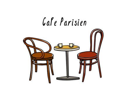 Cafe meubel illustratie