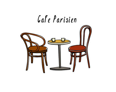 Cafe furniture illustration