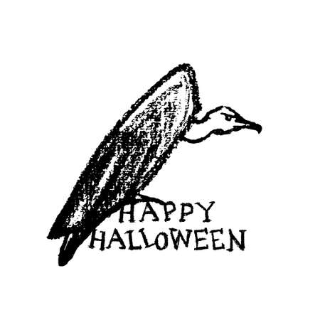 morose: Halloween greeting card. Illustration