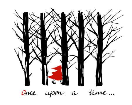 Red Riding Hood illustration Vettoriali