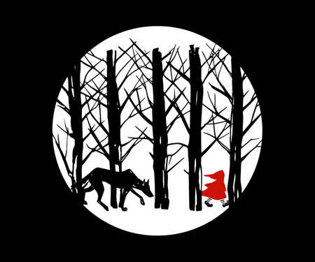 Red Riding Hood illustration Vettoriali