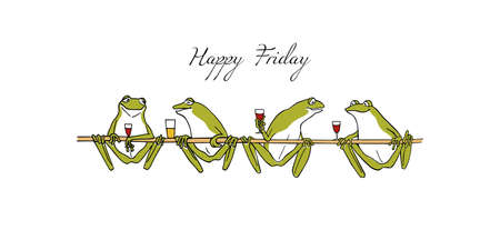 Hand drawn frogs.