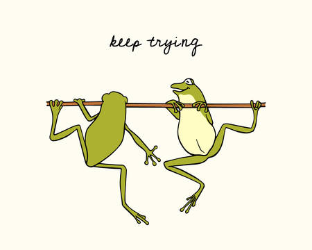 Hand drawn frogs icon.