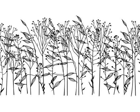 Hand drawn grass pattern 向量圖像