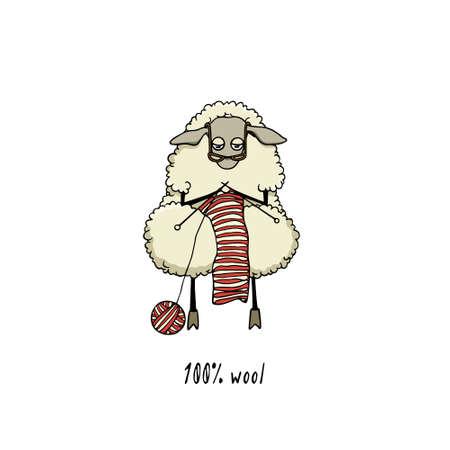 Hand drawn sheep character