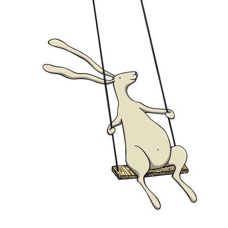Vector hand drawn hare Illustration