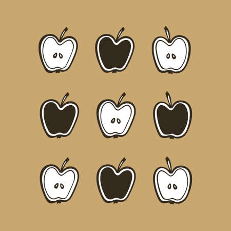 Hand drawn apples Illustration