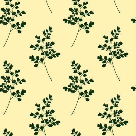 Hand drawn maidenhair pattern