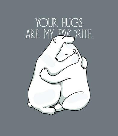 Hand drawn hugging animals 일러스트