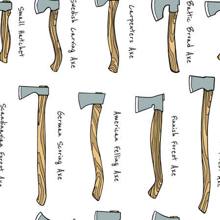 Hand drawn axes pattern Иллюстрация