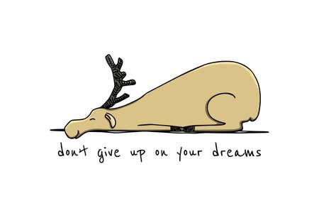 Hand drawn cute deer 免版税图像 - 104784864