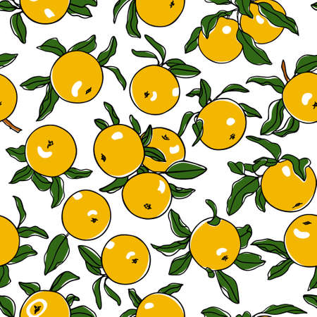 Vector seamless pattern with hand drawn Opal apples. Beautiful food design elements. Ink drawing, perfect for prints and patterns