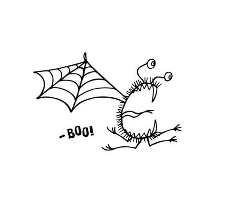 Hand drawn cute monster