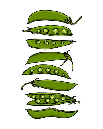 Hand drawn pea
