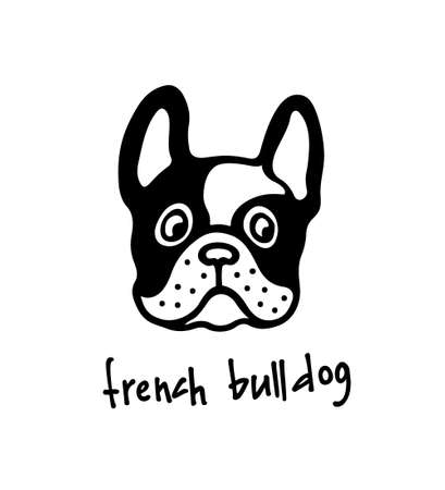Hand drawn bulldogs head