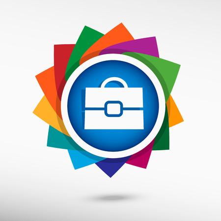 portmanteau: Briefcase pointer. Flat design style Illustration