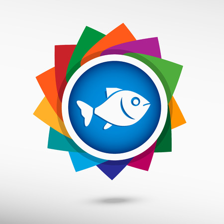 product signal: Fish. Flat design style