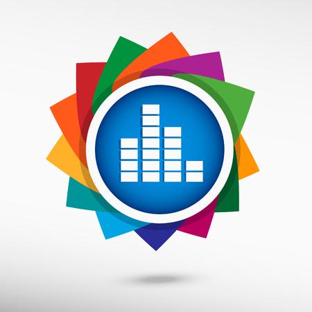 recital: Soundwave music icon. Flat design style Illustration