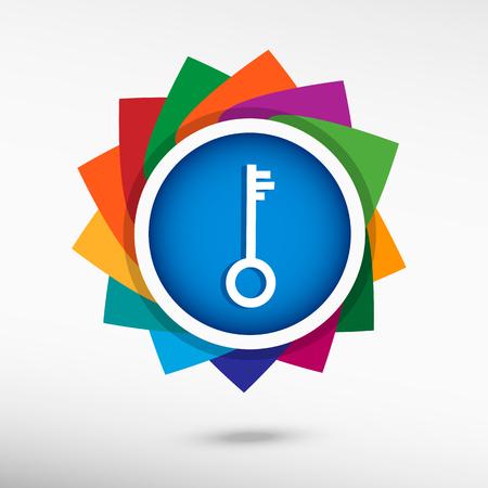 unblock: Key. Flat design style