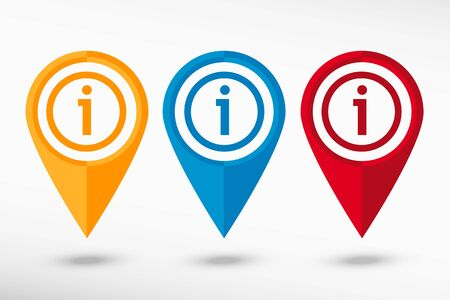 inet symbol: Information map pointer, vector illustration. Flat design style