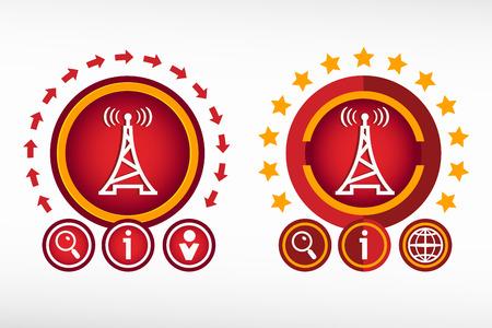 transmitter: Transmitter icon on creative background.  Illustration