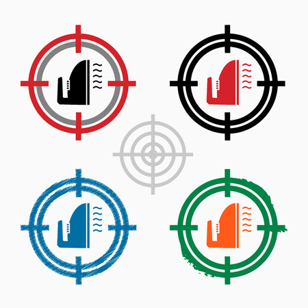 smoothing: Smoothing icon on target icons background. Crosshair icon. Vector illustration. Illustration
