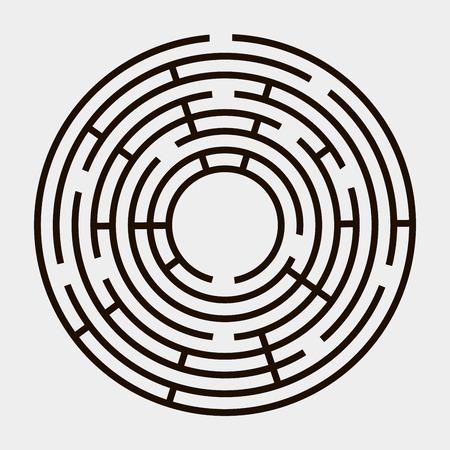 Round maze on a white background Vector