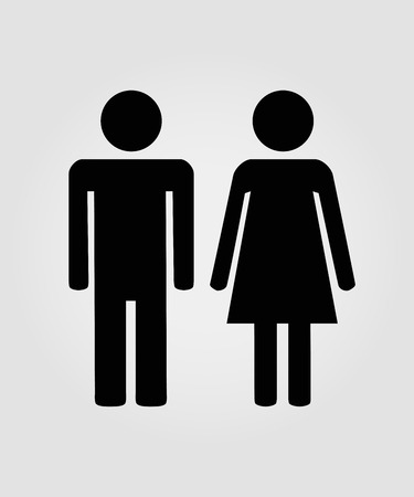 man and woman sex: Male and female sign