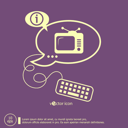 Televise and keyboard design elements. Line icons for application development, web page coding and programming, creative process