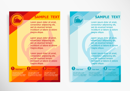 publisher: Tea maker symbol on abstract vector modern flyer, brochure vector template. Illustration