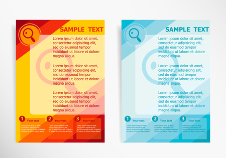lupe: Lupe symbol on abstract vector modern flyer, brochure vector template Illustration