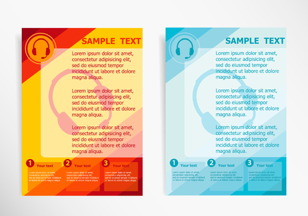Live help sign on abstract vector modern flyer, brochure vector template.
