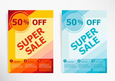 web banner: Sale banner. Web banner. Illustration