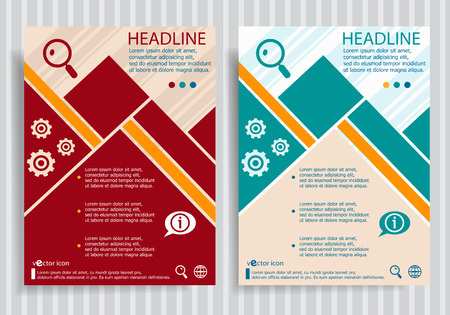lupe: Lupe  flat symbol modern flyer, brochure vector template.
