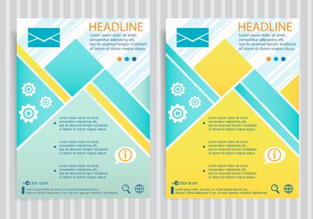 Envelope symbol on vector brochure flyer design layout template. Business modern template
