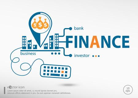 Concepto de finanzas y marketing. Concepto de finanzas para el desarrollo de aplicaciones, proceso creativo.