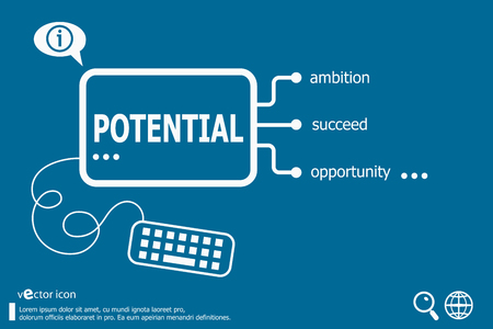 potential: Potential and marketing concept. Potential concept for creative process. Illustration